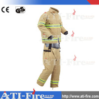 Firefighters man safety working used fire suits