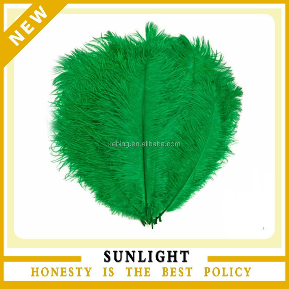 wedding decoration artificial green ostrich feather