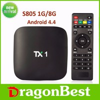 Set top box usb dongle TX1 Vensmile S805 Amlogic 1.5 GHZ 1GB/8 GB android tv box Quad-Core Smart Tv BOX