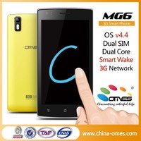 Low Budget Model ! MG6 5 inch IPS Dual Core 5MP android 4.4 Dual Sim 3G no brand mobile phone