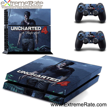 Game Accessories Vinyl Sticker Cover Uncharted 4 For PS4 Console Controller Skin Wraps