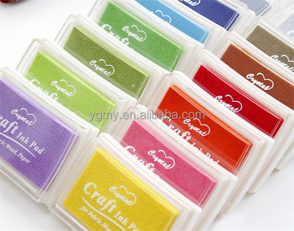 Colorful Cartoon Ink pad/Ink stamp pad/Inkpad set for DIY funny work/Scrapbooking/Album