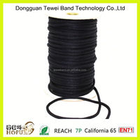 Hot sale black round waxed cotton rope