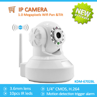 1.0 Megapixels Wifi Pan &tilt IP Camera,home security sd card wifi ip camera