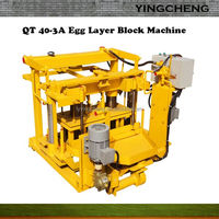 2016 road Construction QT40-3A used brick making machine for sale cut machine