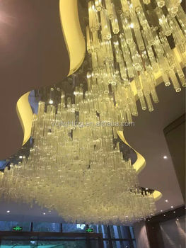 Customize large lighting super mall ceiling lamp project crystal light
