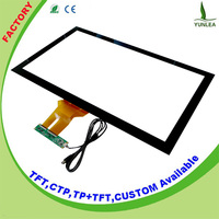 "86%min Transparency 10 touch points usb 32"" pcap touch panel"