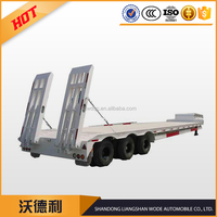 Heavy Low Bed Semi Trailer For