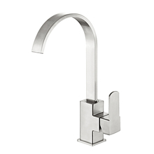 Quiet waterfall flow faucet upc 61-9 nsf kitchen faucet with curved nozzle