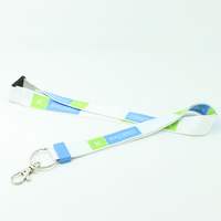 Polyester custom cute Children lanyard with safety clip