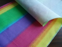 100% Cotton Twill Fabric Dyed with Colorful Stripes