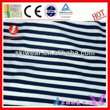 various breathable wicking black and white stripe spandex stretch fabric