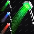 temperature sensor 3 colors illuminated led shower head sliding bar & shower head LD8008-C4