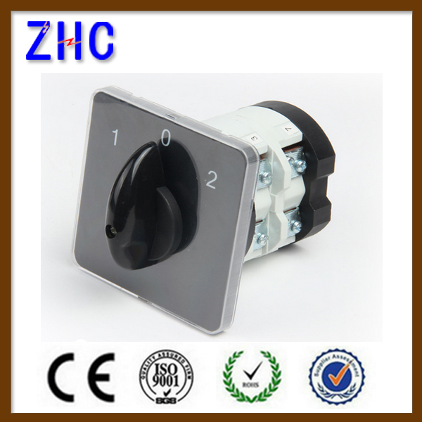 25A 1-0-2 3P high quality rotary switch selector switch