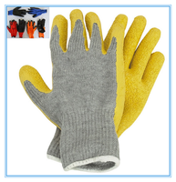 10 gauge latex wrinkle finished cotton napped working glove for warmly winter