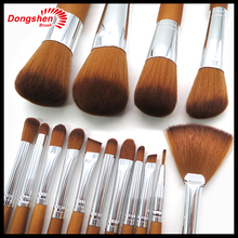 15Pcs/set Wood Handle Makeup Make Up Cosmetic Eyeshadow Foundation Concealer Brush Set