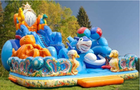 inflatable bounce round water slide,wholesale inflatable slide for kids and adults