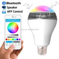 2016 Factory New Arrival E27 6w RGB white Magic blue LED bulb lighting Smart lamp bluetooth