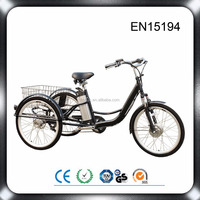 20 inch front drive 36v 250w brushless hub motor kids three wheel electric tricycle 3 wheel bicycle