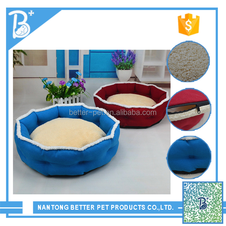 Wholesale cute soft colorful small Pet dog bed stock portable square bed for dog
