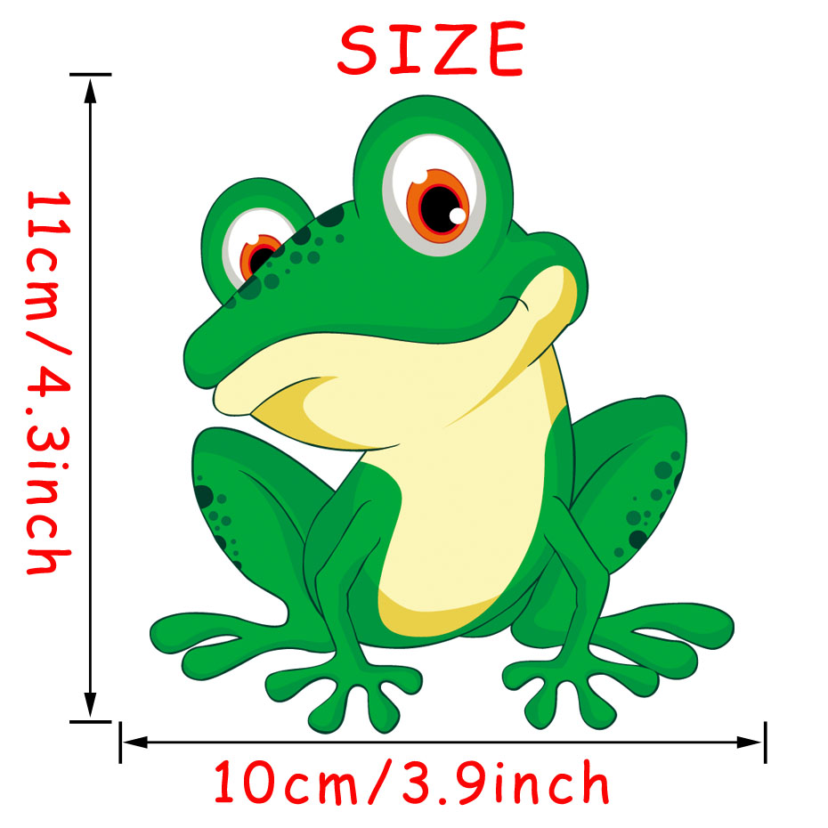 Bug Eyed Green Frog Cartoon Vinyl Wall Sticker Colorful Frog Car ...