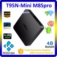 Hihg Quality 4k Satellite Receiver T95N Kodi 16.0 Bluetooth 4.0 Dual Wifi Android 5.1 Tv Box