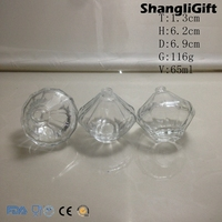 65ml Diamond Shaped Perfume Bottle Glass Bottles With Pump Sprayer small glass bottles