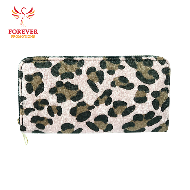 Custom Ladies PU Leopard Printed Long Zipper <strong>Wallet</strong>