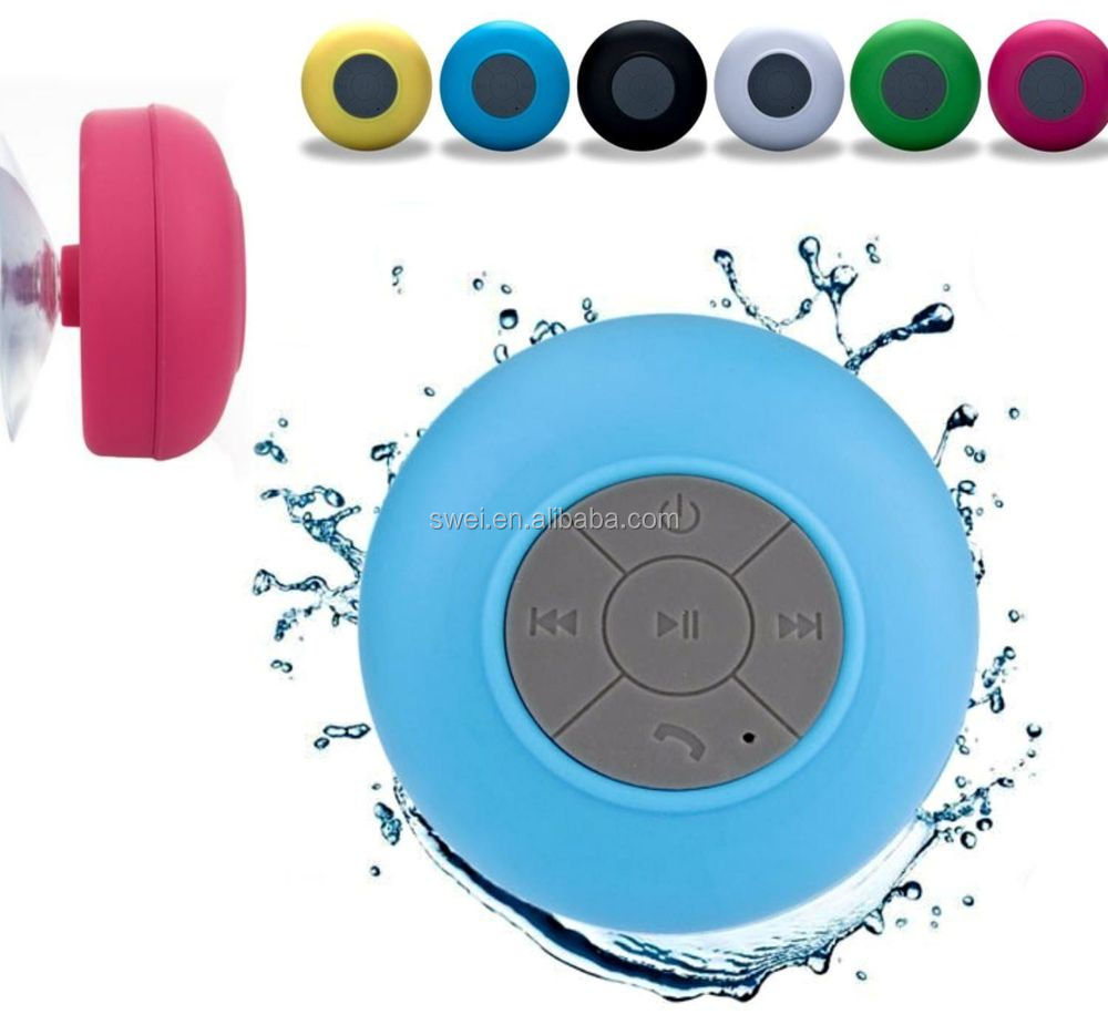 Innovative Waterproof Bluetooth Speaker With Silicon Suction Cup For Mobilephones Tablets PCs