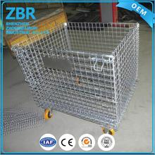 full security metal storage cage with wheels/cover/lid