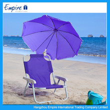 Popular style top quality kids folding beach chair with umbrella