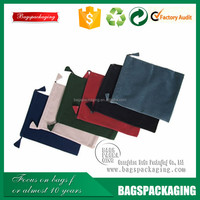 china manufacturer promotional velvet pouch with hot stamping
