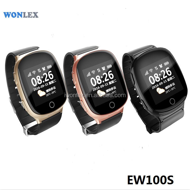 2017 NEW Elderly Smart Watch Smart bralect Wonlex EW100S mobile phone android smart watch GPS Tracker Calling Watch