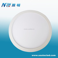 24W round led panel light high power efficiency led panel ceiling light 6000K led surface panel light