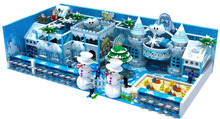 winter snow theme design commercial kids soft indoor playground sale