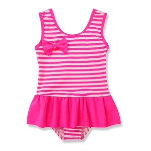 Bestselling Stripe Design One Piece Swimsuit Cute Girls Fashion Kids Swimwear