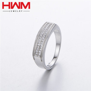 2017 latest design zircon crystal jewelry ring present 925 sterling silver myanmar jewellery for men
