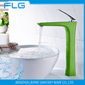 FLG100325 Green Colour Painting Finishing Brass Basin Faucet