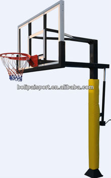 Residential pole basketball stand