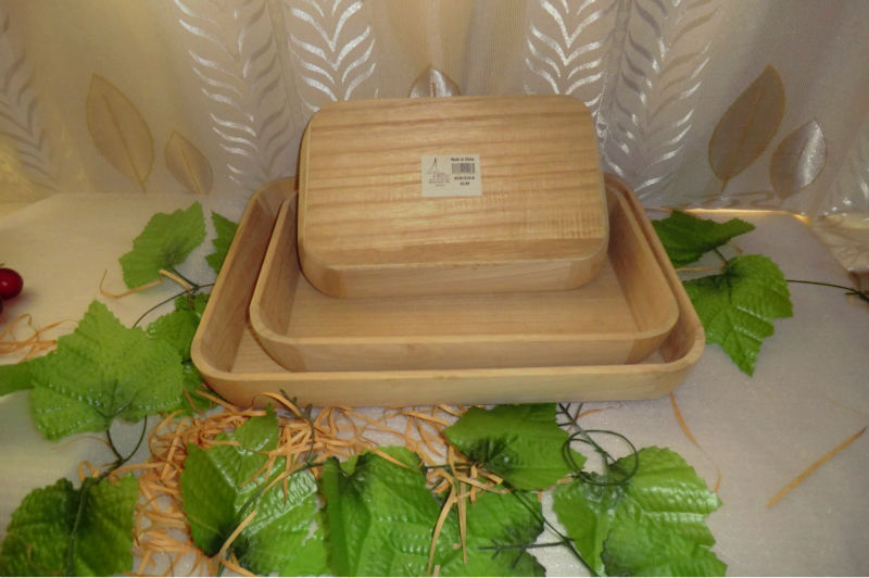 The set of paulownia wood Serving Trays