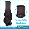 New Style golf travel bag with wheels with rain cover