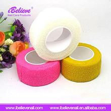 Free Shipping 2.5cm*4.5cm Adhesive Non Woven Elastic Tape Nail Finger Bandages