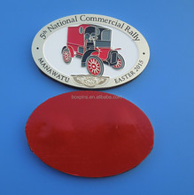 car company 5th national commercial rally souvenir emblem, promotional gifts auto car emblem