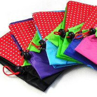 Colorful good quality portable strawberry recycle shopping bag