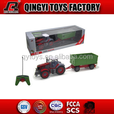 RC Tractor for Sales 1:28 4CH RC farm toy car with RoHS CE certificates