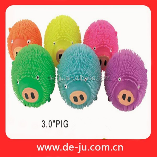 Cheap TPR Worm Puffer Rubber Pig Toy