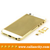 clous de paris design 24kt gold back housing for iPhone 5s with crystals