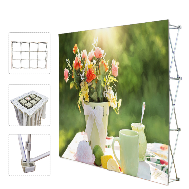 Dye Sublimation graphic tension fabric portable pop up wall display