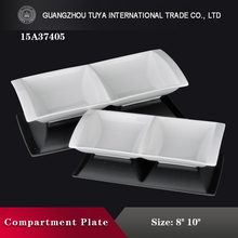 Rectangular dish/ceramic double lattice sauce dishes/buffet chafing dish food warmer
