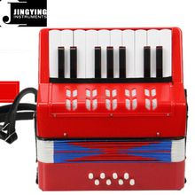 104 red color keyboard type 17 keys 8 bass children accordion